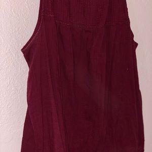 Brand New red tank top/ dress shirt
